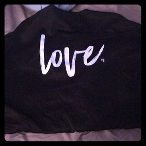 Victoria's Secret robe with LOVE on back